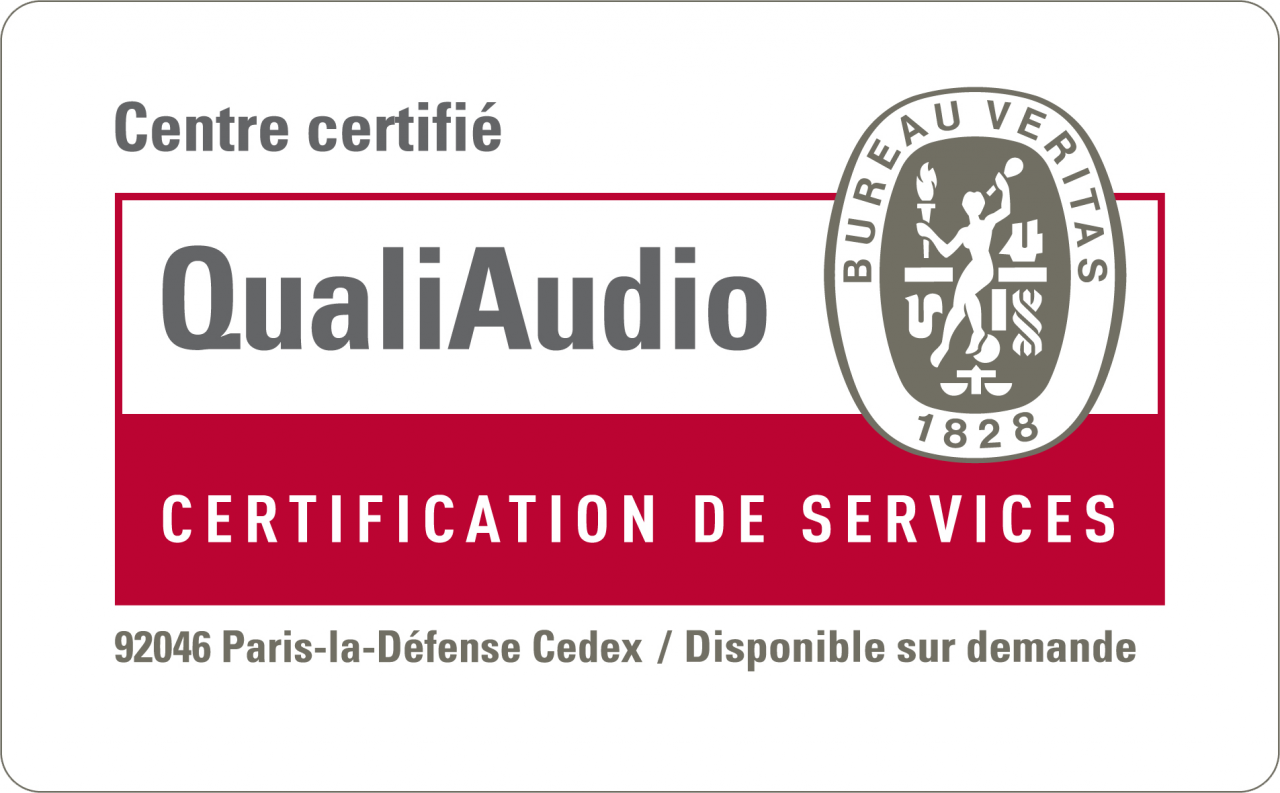 Certification QualiAUDIO